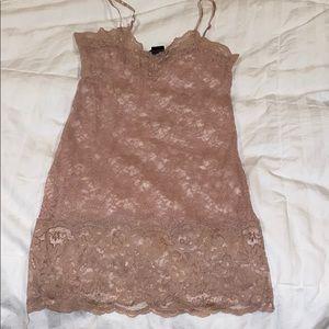 Sheer lace tank